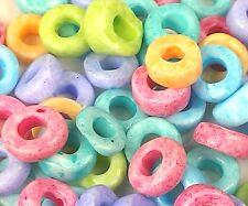 """Czech Glass Cut Ring/ Donut Beads 32/0 """" MOTTLE EFFECT MIXTURE """" 40 Grams"""