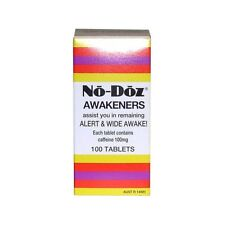 NO-DOZ AWAKENERS 100 CAFFEINE TABLETS ASSISTS REMAINING ALERT AWAKE NO DOZ