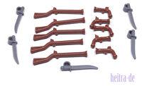 LEGO Piraten - Waffenset mit 15 Waffen / Musketen, Degen, Pistolen NEUWARE