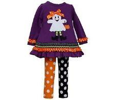 Bonnie Jean Baby Girl Ghost Trick or Treat Halloween Fall Dress Outfit 12M New