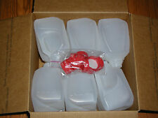 12- 1-QUARTER- GALLON HDPE FOOD GRADE PLASTIC JUGS WITH TAMPER PROOF SCREW CAPS
