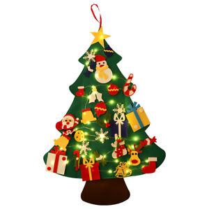 30 Stück DIY-Filz Weihnachtsbaum Dekoration mit LED Weihnachtsbaum für Kinder