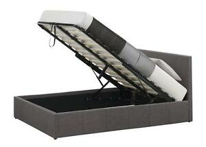 Gas Lift Storage Bed In Various Sizes And Colours Memory Mattress Option Quality