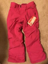 NWT The North Face Girl's Derby Insulated Snowpants~Fusion Pink Size Lg 14/16