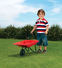 NEW Orbit Mighty Metal Wheelbarrow Toy Pretend Play Backyard Garden