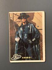1958 Topps Zorro #1 Zorro *Low Grade/Creasing