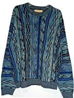 Vintage Norm Thompson Escape Ordinary Coogi Style Sweater Men XL Blue