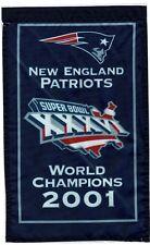 "Gillette Stadium 2001 New England Patriots 14"" Mini Banner Super Bowl 36 XXXVI"