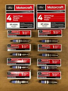 Set of 8: Genuine Ford Motorcraft Copper Spark Plugs SP-450A ASF42CA Free Ship