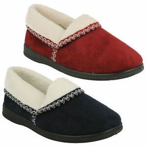 LADIES SANDPIPER SLIP ON WARM LINED WINTER HOUSE INDOOR SLIPPERS SHOES SIZE ILA
