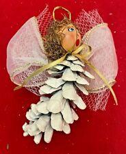 Vintage Pinecone Angel Handmade Christmas Ornament Decoration