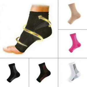 Plantar Fasciitis Compression Ankle Sleeve Foot Heel Arch Support Brace Sock Lot
