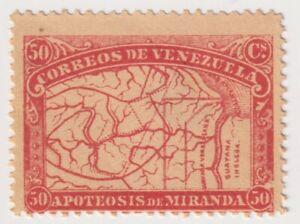 1896 Venezuela - 80th Anniversary Death Francisco de Miranda - 50 Centimos Stamp