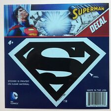 "DC Superman ""S"" Shield Logo Emblem Black Car Window Sticker Decal  5 1/2"""