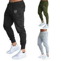 Men Slim Fit Tracksuit Sport Pants Gym Skinny Jogging Joggers Sweat Trousers US