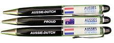 PROUD AUSSIE - DUTCH AUSTRALIAN METAL PEN NETHERLANDS SOUVENIR GIFT