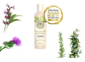 Natural Rosemary, Sage & Burdock Lift & Repair Shampoo 250ml. Antioxidant rich