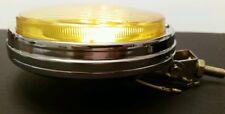 Round amber glass chrome bumper mount fog light toyota corolla mgb honda 600 vw
