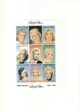ST. TOME & PRINCIPE MARILYN MONROE MINI-SHEET MNH & AUTHENTICITY CERT.