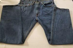 Levi Struss men jeans 34x30  505 blue wash straight leg 4 pocket pre owned good