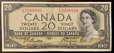 1954 - Twenty Dollar Canadian Banknote - 20$ Bank Of Canada