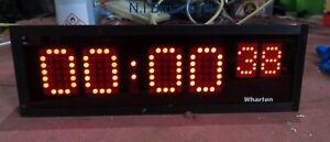 Wharton digital LED clock (32cm wide)