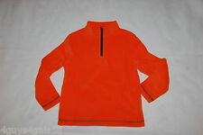 Boys L/S Sweatshirt ORANGE FLEECE PULLOVER High Collar ZIP NECK Size XL 14-16