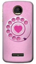 Pink Retro Rotary Phone Phone Case for Moto Z2 Z Force Play Plus G5 G5S G4 E4 C
