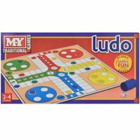 NEW TRADITIONAL LUDO BOARD GAME FAMILY FUN KIDS SET CLASSIC TRAVEL PARTY TOY