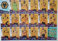 2020/21 PANINI Adrenalyn EPL Soccer Cards - Wolverhampton Team Set (18 cards)