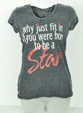 See Trough Why Just Fit in If You Were Born To Be A Star V Neck Large Tshirt