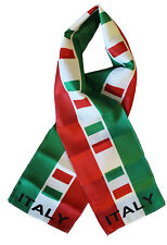 "Italy Italian Country Lightweight Flag Printed Knitted Style Scarf 8""x60"""