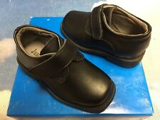 Jumping Jacks Leather Hook & Loop Monk Strap Oxford Dress Shoe Toddler Size 6.5