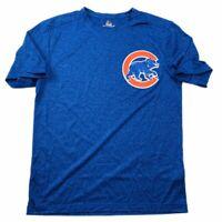 Chicago Cubs Cool Base Majestic Adult Men's Size Medium Blue S/S Alternate Shirt