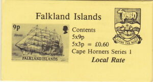 Falkland Is 1990 -  Booklet - Cape Horners Series I - 5 x 9p; 5 x 3p.