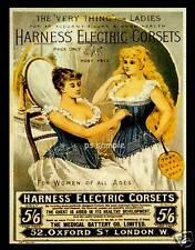 Harness Electric Corsets - Vintage Ad Fridge Magnet