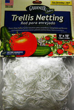 TRELLIS NETTING 5'x15' Heavy Duty Nylon Net, GREAT PLANT SUPPORT Made in USA