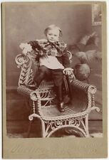 CHILD WITH LARGE BOW BY MARTIN, GALETON, PA, CABINET CARD