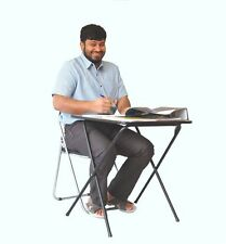 Folding exam study laptop computer classroom training Camping table chair