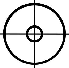 "22"" X 22"" Crosshairs Vinyl Sticker Decal Military Gaming Sniper - Choose Color"