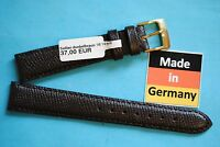 Watch band 16mm Sellier dark brown by Kaufmann Made in Germany