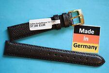 CINTURINO OROLOGIO 16 mm SELLIER marrone scuro VON KAUFMANN MADE IN GERMANY