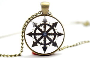 Chaos Star Symbol - Photo Glass Dome Necklace Pendant