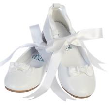 New Toddler Kids Girls White Ivory Dress Shoes Ballet Youth Ballerina Flats