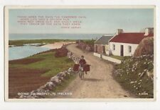 Going To Market In Ireland Vintage Postcard 315a