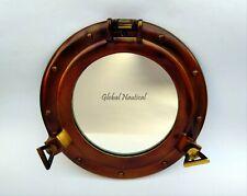 """Maritime Porthole 11"""" Antique Canal Boat Porthole-Window Ship Round Glass Decor"""