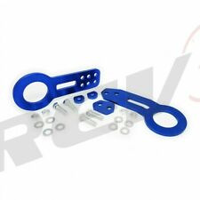 BLUE Anodized Billet Aluminum Tow Hook Set Front+Rear Supra MR2 Corolla TC XB XA