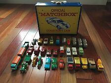 Vintage Matchbox Lesney Collection (34 Cars) with Official Matchbox Case No. 41