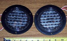 """PAIR ~ DIALIGHT 4"""" ROUND CLEAR LED BACK UP LAMPS ~ FLANGED MOUNT - KW, MACK BUS"""