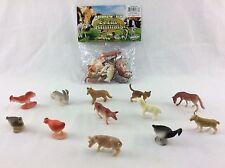 "2"" Farm Animal Figure Toy Play Set Plastic Cake Topper Party Favor 12 Piece"